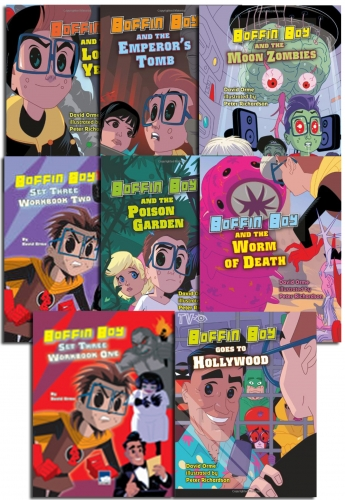 Boffin Boy Series 3 Children's Books Collection 8 Books Set Popular Manga Series by David orme