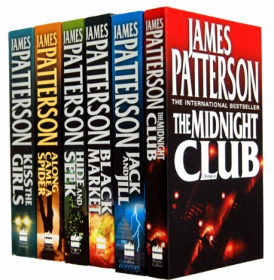James Patterson Alex Cross Series 6 Books Collection Set (Black Market, Jack & Jill, Kiss the Girls, Along Came a Spider, Hide & Seek, The Midnight) by James Patterson