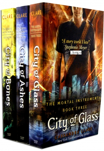 The Mortal Instruments 3 Books city of ashes, bones & glass by Cassandra Clare