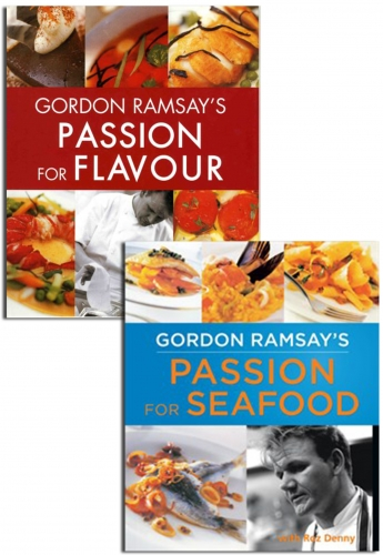 Gordon Ramsay's Passion for Flavor and Seafood 2 Books Collection Set by Gordon Ramsay