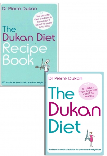 The Dukan Diet Recipe Book Pierre Dukan Collection Set New Lose Weight by Pierre Dukan
