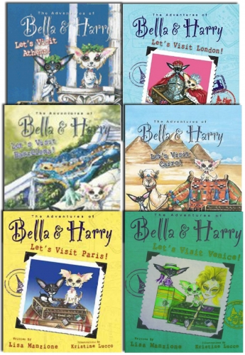 The Adventure Of Bella & Harry Collection 6 Books Set NEW Let's Visit Barcelona by Lisa Manzione