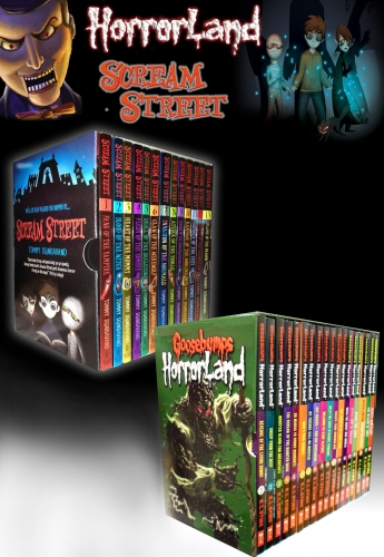 Goosebumps HorrorLand Series & Scream Street 31 Books Box Gift Set Collection by R.L.Stine & Tommy Dondavand