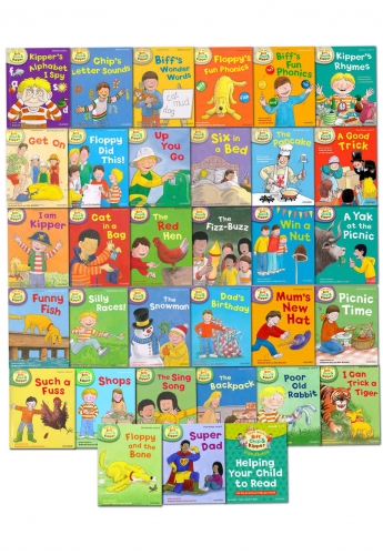Read with Biff, Chip Kipper Collection 33 Books Set (Level 1-3) by Oxford University Press