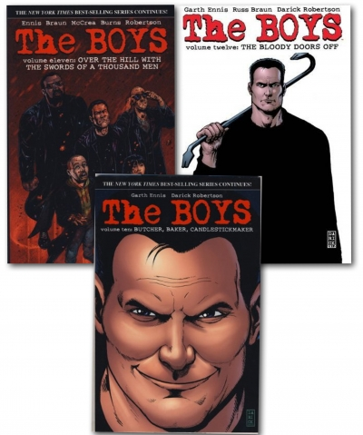The Boys Series Collection 3 Books Set (V.10-12) by Garth Ennis , Darick Robertson