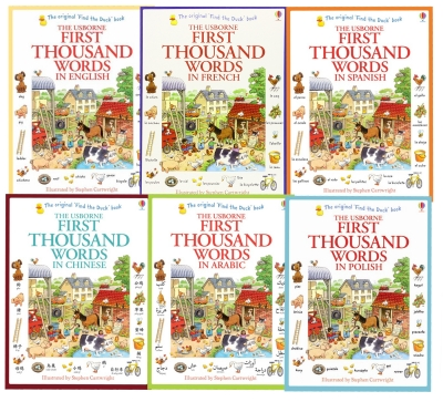 Usborne My First Thousand Words 6 Books Collection Set by Usborne