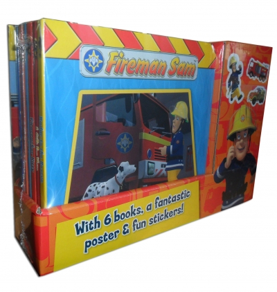 Fireman Sam 6 Books Collection Box Gift Set Pack Fantastic Poster with Fun Stickers by Fireman Sam