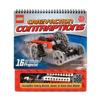 Lego Crazy Action Contraptions Activity Book (Klutz) 16 projects models to make, Lego Books by Doug Stillinger