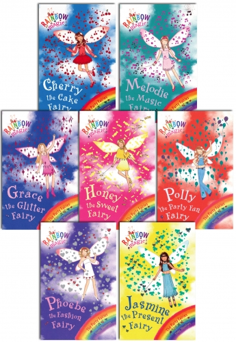 Rainbow Magic - Series 3 Party Fairies Collection 7 Books Pack Set Books 15 to 21 by Daisy Meadows