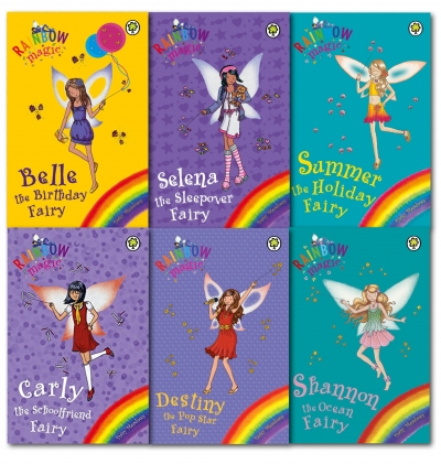 Rainbow Magic Summer Fun Fairy Daisy Meadows 6 Books Collection Set by Daisy Meadows