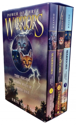 Warriors Power of Three Collection Erin Hunter 3 Books Box Set (Volumes 1 to 3) by Erin Hunter
