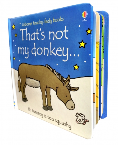 Thats Not My Donkey Touchy-Feely Board Books by Fiona Watt, Rachel Wells
