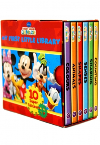 Disney Mickey Mouse Clubhouse Little Library 6 Book set by Disney