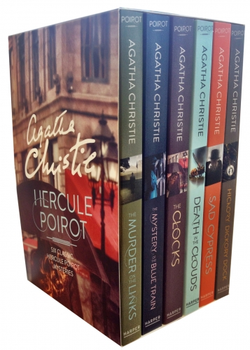 Agatha Christie Hercule Poirot Classic Mysteries 6 Books Collection Box Set by Agathe Christie