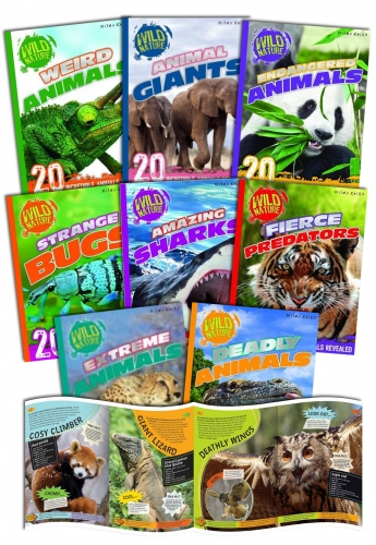 Miles Kelly Wild Nature Amazing Animals Collection 8 Books Set by Miles Kelly