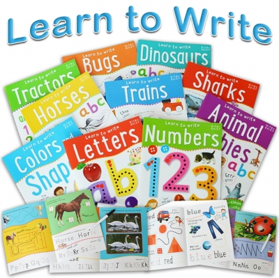 Wipe Clean Learn To Write 10 Books Collection Set For Children Letters, Numbers by Belinda Gallagher