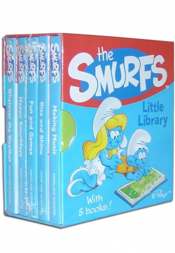 Smurfs Little Library 5 Books Collection Pack Set by Simon & Schuster