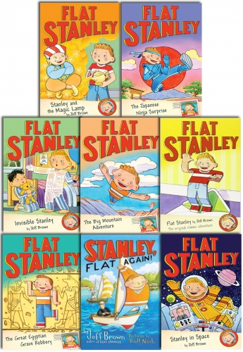 Flat Stanley Collection 8 Books Set Pack by Jeff Brown