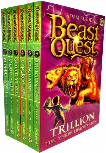 Beast Quest Series 2 The Golden Armour 6 Books Collection Set (Books 7-12) by Adam Blade