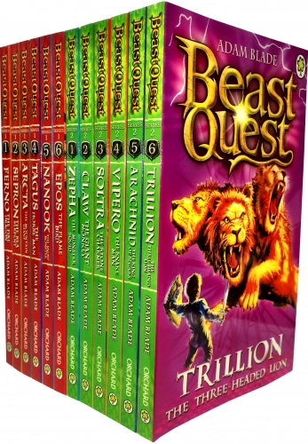 Beast Quest Series 1 and 2 Collection Adam Blade 12 Books Set Vol 1 to 12 NEW PB by Adam Blade