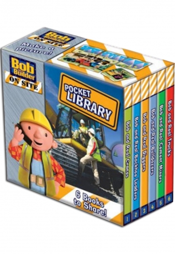 Bob the Builder Pocket Library 6 Book Pack Set by BBC