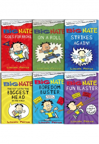 Big Nate Series Collection Lincoln Peirce 6 Books Set by Lincoln Peirce