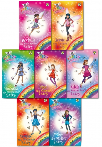 Rainbow Magic Series 17 Pop Star Fairies Collection Pack Set Books 113 - 119 by Daisy Meadows