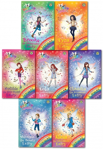Rainbow Magic Series 18 Fashion Fairies Collection Pack Set Books 120 to 126 by Daisy Meadows