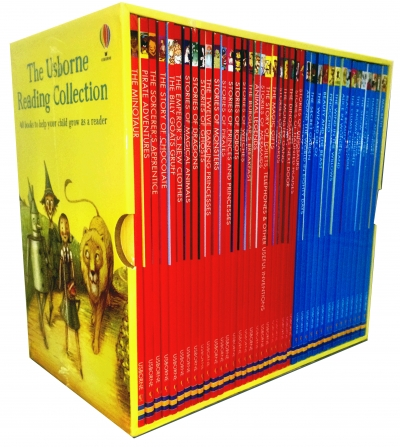 Usborne Young Reading Collection 40 illustrated Books Box Set Read at Home L1-2 by Various