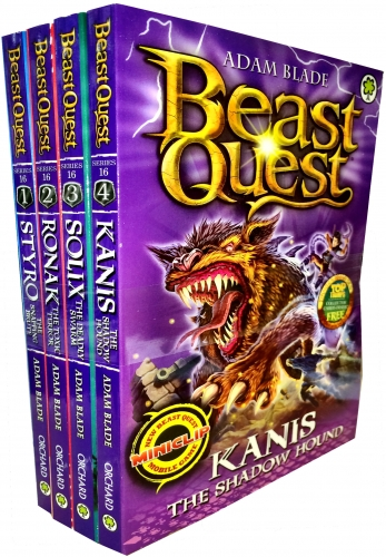 Beast Quest Series 16 The Siege of Gwildor Collection 4 Books Collection Pack Set by Adam Blade