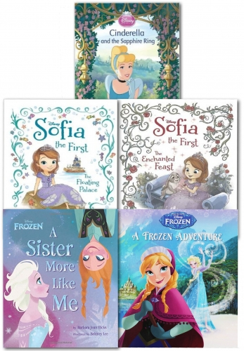 Disney Princess Sofia and Frozen 5 Books Collection Set by Disney