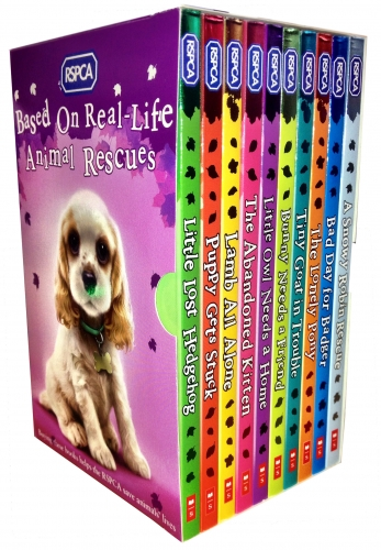 RSPCA Animal Rescue Pets 10 Childrens Books Collection Set-Slipcase by Various