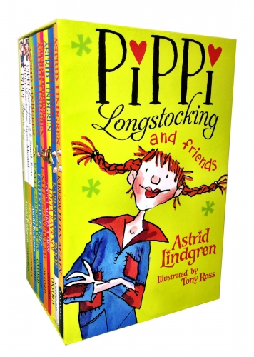 Pippi Longstocking and Friends Collection 10 Books Box set by Astrid Lindgren