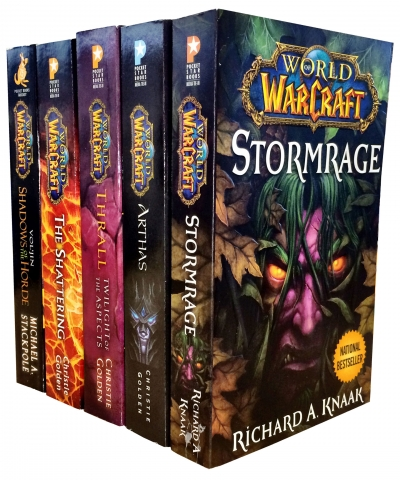 Warcraft - World Of Warcraft - 5 Book Collection Set (The Shattering, Thrall Twilight of the Aspects, Arthas Rise of the Lich King, Stormrage, Voljin) by Various
