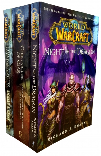 Warcraft - World Of Warcraft - 3 Fantasy Novel Books Collection Set - (Chronicles of War, Night of the Dragon, Dawn of the Aspects) by Various
