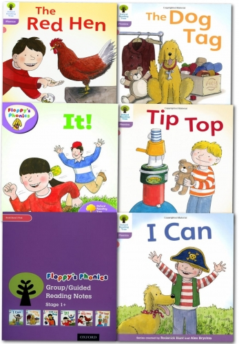 Oxford Reading Tree: Level 1 Floppys Phonics 6 Books Collection Set Read at home by Roderick Hunt (Author), Alex Brychta (Illustrator)