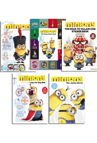 Minions Children Story, Activity And Sticker Books Collection 5 Books Set Pack by Centum Books Ltd