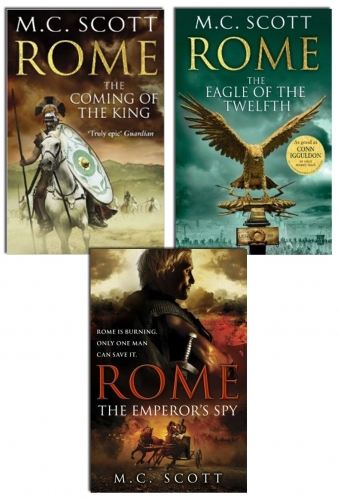 M C Scott Rome Series 3 Books Collection Set Pack The Eagle Of The Twelfth, more by M C Scott