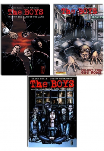 The Boys Series Collection 3 Books Set (V.1-3) by Garth Ennis , Darick Robertson