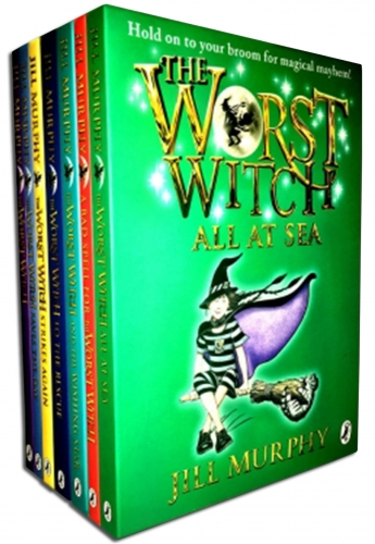 The Worst Witch Jill Murphy 7 Books Collection Set (Wishing Star, Bad Spell, Worst Witch, Strikes Again, Saves the Day, Rescue, All at Sea) by Jill Murphy