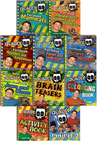 Steve Backshall's Deadly Series 10 Books Collection Gift Set Pack BBC by Steve Backshall