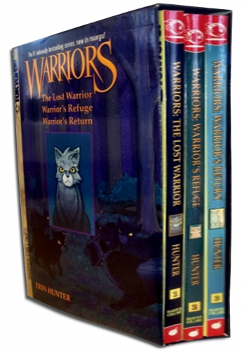 Warriors Manga Box Set Erin Hunter Graystripes Adventure 3 Books Collection Set by Erin Hunter