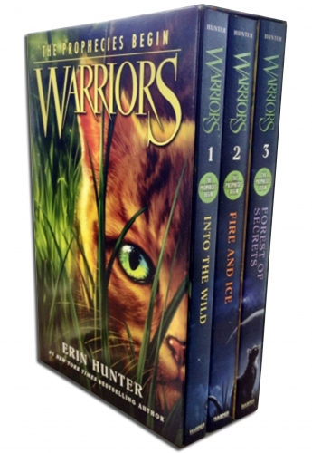 Warriors: The Prophecies Begin Collection 3 Books Box Set (Volumes 1 to 3) by Erin Hunter