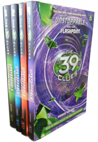 39 Clues Unstoppable Series 2 - 4 Books Collection Set (No Where to Run, Breakaway, Count down, Flash Point) by Jeff Hirsch, Natalie Standiford, Jude Watson, Korman
