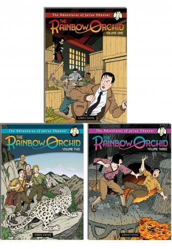 Rainbow Orchid Collection 3 Books Set (The Rainbow Orchid Volume One; Rainbow Orchid Volume Two; Rainbow Orchid Volume Three) by Garen Ewing