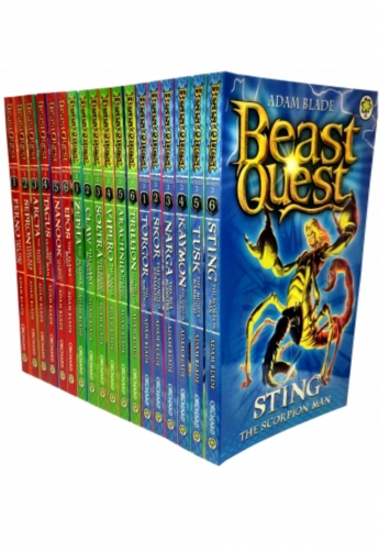 Beast Quest Series Adam Blade 18 Books Collection Set Series 1 2 and 3 by Adam Blade