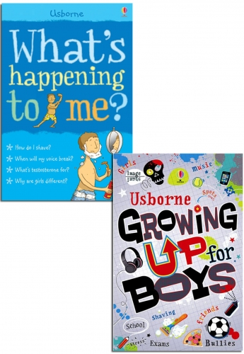 Whats Happening to Me  Growing Up for Boys Collection 2 Books Set by Usborne