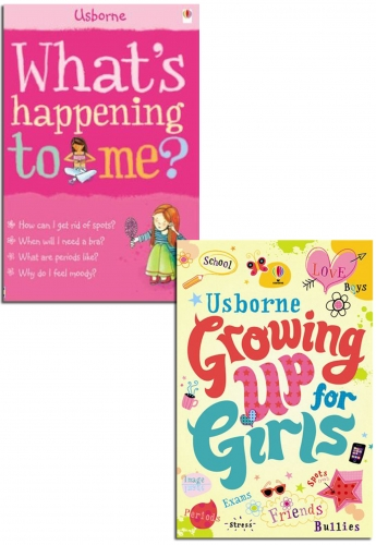 Whats Happening to Me? Growing Up for Girls Collection 2 Books Set by Usborne