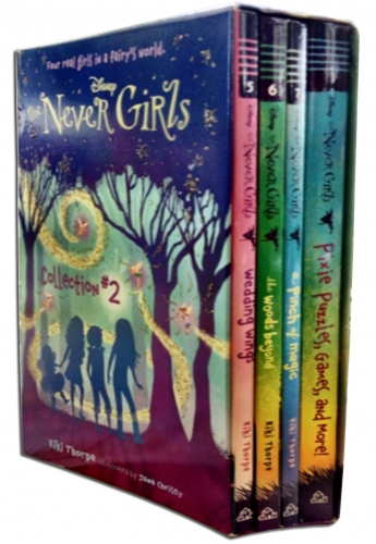 Disney Never Girls (Collection 2) 4 Books Box Set Wedding Wings, Pinch of Magic by Kiki Thorpe