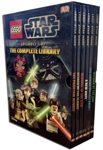 DK Lego Star Wars The Complete Library Collection 6 Book Box Set (Episodes I-VI) by Hannah Dolan, Emma Grange, Elizabeth Dowsett